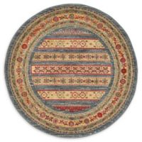 "Unique Loom Pasadena Nomad 3'3"" Round Powerloomed Area Rug in Blue"
