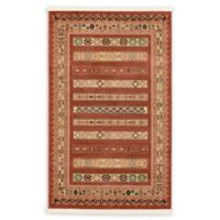 "Unique Loom Pasadena Nomad 3'3"" X 5'3"" Powerloomed Area Rug in Rust Red"