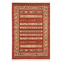 Unique Loom Pasadena Nomad 4' X 6' Powerloomed Area Rug in Rust Red