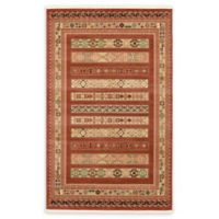 Unique Loom Pasadena Nomad 5' X 8' Powerloomed Area Rug in Rust Red