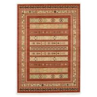 Unique Loom Pasadena Nomad 7' X 10' Powerloomed Area Rug in Rust Red