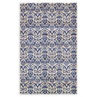 "Unique Loom Peaceful Damask 3'3"" X 5'3"" Powerloomed Area Rug in Blue"