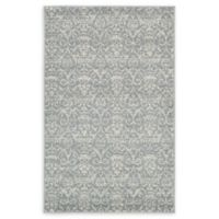 "Unique Loom Rain Damask 3'3"" X 5'3"" Powerloomed Area Rug in Gray"