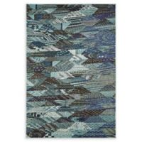 Unique Loom Rainier Sedona 4' X 6' Powerloomed Area Rug in Blue