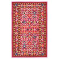 """Unique Loom Paradise Palazzo 3'3"""" X 5'3"""" Powerloomed Area Rug in Pink"""