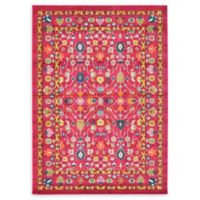 Unique Loom Paradise Palazzo 7' X 10' Powerloomed Area Rug in Pink