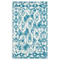 Unique Loom Piazza Venice 5' X 8' Powerloomed Area Rug in Blue
