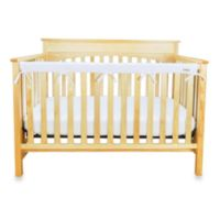 Trend Lab® CribWrap™ Convertible Crib Long Narrow Rail Cover in White