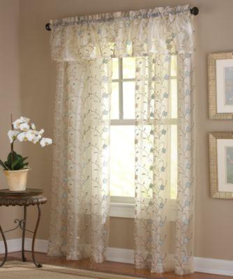 Buy Flowers Sheer Window Panels from Bed Bath & Beyond