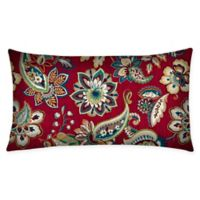 Honeycomb Outdoor Oblong Throw Pillows in Crimson Jakarta (Set of 2)