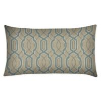 Honeycomb Outdoor Oblong Throw Pillows in Camel Fretwork (Set of 2)