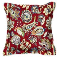Honeycomb 17-Inch Square Outdoor Throw Pillows in Crimson Jakarta (Set of 2)