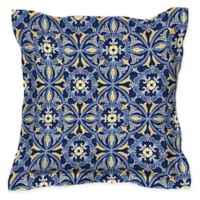 Honeycomb 17-Inch Square Outdoor Throw Pillows in Marine Medallion (Set of 2)