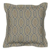 Honeycomb 17-Inch Square Outdoor Throw Pillows in Camel Fretwork (Set of 2)