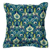 Honeycomb 17-Inch Square Outdoor Throw Pillows in Damask Seaglass (Set of 2)