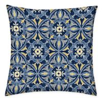 Honeycomb 15-Inch Square Outdoor Throw Pillows in Marine Medallion (Set of 2)
