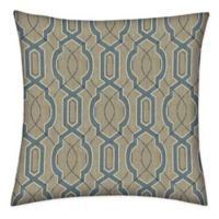 Honeycomb 15-Inch Square Outdoor Throw Pillows in Camel Fretwork (Set of 2)