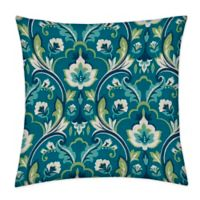 Honeycomb 15-Inch Square Outdoor Throw Pillows in Damask Seaglass (Set of 2)