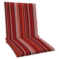 Honeycomb Stripe Outdoor Mid-Back Chair Cushion in Cardinal