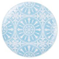 Porto Melamine Salad Plate in Blue/White