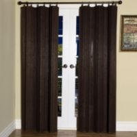 Easy Glide 63-Inch Bamboo Ring Top Window Curtain Panel