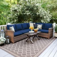 Leisure Made Dalton 5-Piece Outdoor Sectional Set in Navy