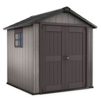 Keter Oakland 757 7.5-Foot x 9-Foot Outdoor Storage Shed in Brown