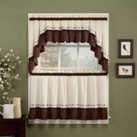Jayden Window Curtain Valance in Chocolate