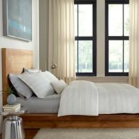 Flatiron® Metallic Crinkle King Duvet Cover in Ivory