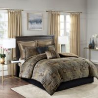 Madison Park Danville 8-Piece Queen Comforter Set in Black/Gold