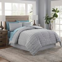 Lindsay 8-Piece Queen Comforter Set in Grey