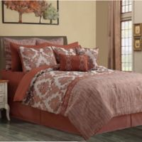 Beckham 12-Piece Queen Comforter Set in Spice