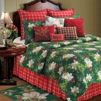 C&F Home Bella Magnolia Reversible Twin Quilt Set in Green