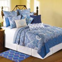 Daphne Reversible King Quilt Set in Blue