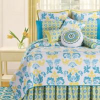 Delilah Reversible King Quilt Set in Blue