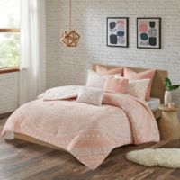 Urban Habitat Larisa Full/Queen Comforter Set in Blush