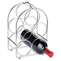 Home Basics® 5-Bottle Floor Wine Rack in Chrome