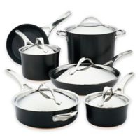 Anolon® Nouvelle Copper Luxe Nonstick Hard-Anodized 11-Piece Cookware Set in Onyx