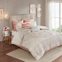 Madison Park Elise 8-Piece Reversible Queen Comforter Set in Blush