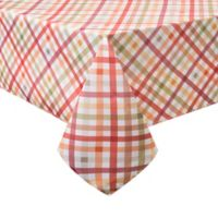 Autumn Gingham 60 Inch X 84 Oblong Tablecloth