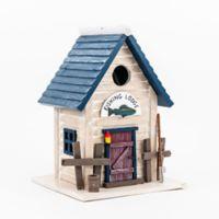 Home Bazaar Fishing Lodge Birdhouse in Beige