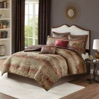Madison Park Hickory 8-Piece King Comforter Set in Red