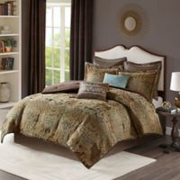 Madison Park Hickory 8-Piece King Comforter Set in Spa
