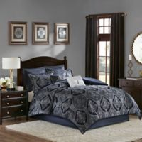 Madison Park Ingrid 8-Piece King Comforter Set in Blue