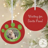 Pawprint On Our Hearts 2-Sided Matte Christmas Ornament