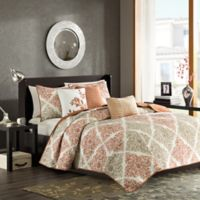 Madison Park Claire King/California King Coverlet Set in Spice