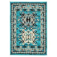 "Unique Loom Oasis Heriz 2'2"" X 3' Powerloomed Area Rug in Turquoise"