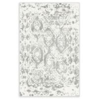 Unique Loom Piazza Venice 4' X 6' Powerloomed Area Rug in Light Gray