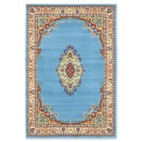 Unique Loom Reza Washington 4' x 6' Area Rug in Light Blue
