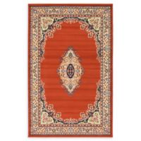 Unique Loom Washington Mashad 5' X 8' Powerloomed Area Rug in Terracotta